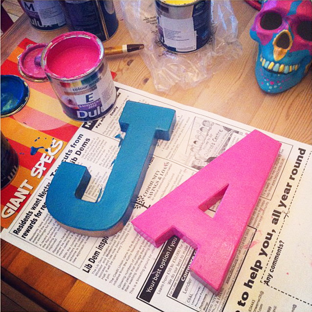 painted cardboard letters » No42